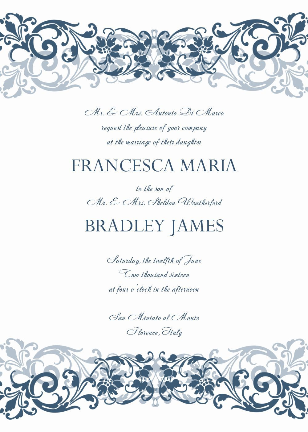 007 Stirring Formal Wedding Invitation Template Concept  Templates Email Format Wording FreeFull