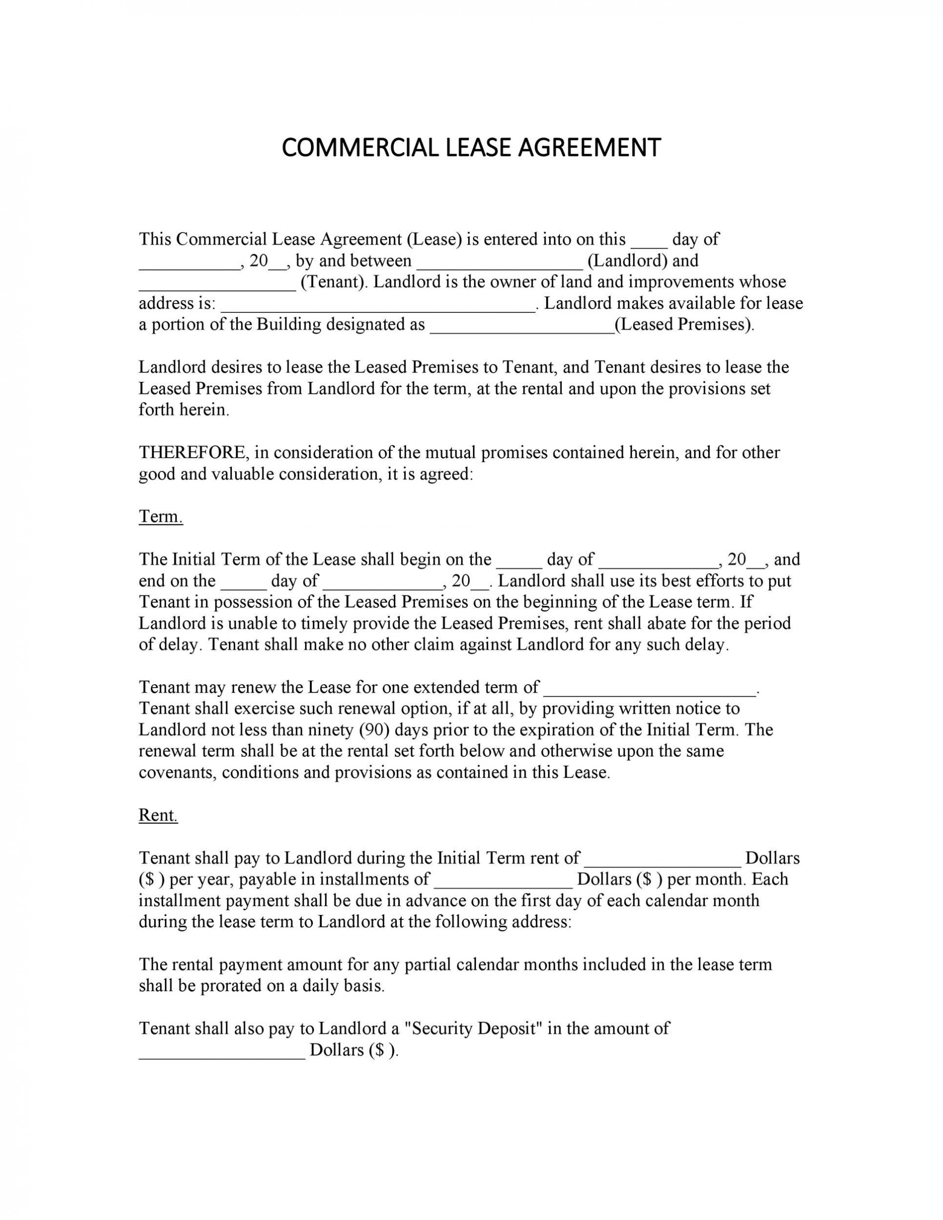 007 Stirring Free Commercial Lease Agreement Template Australia Picture  Queensland Download1920