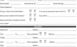 007 Stirring Free Employment Application Template Design  Employee