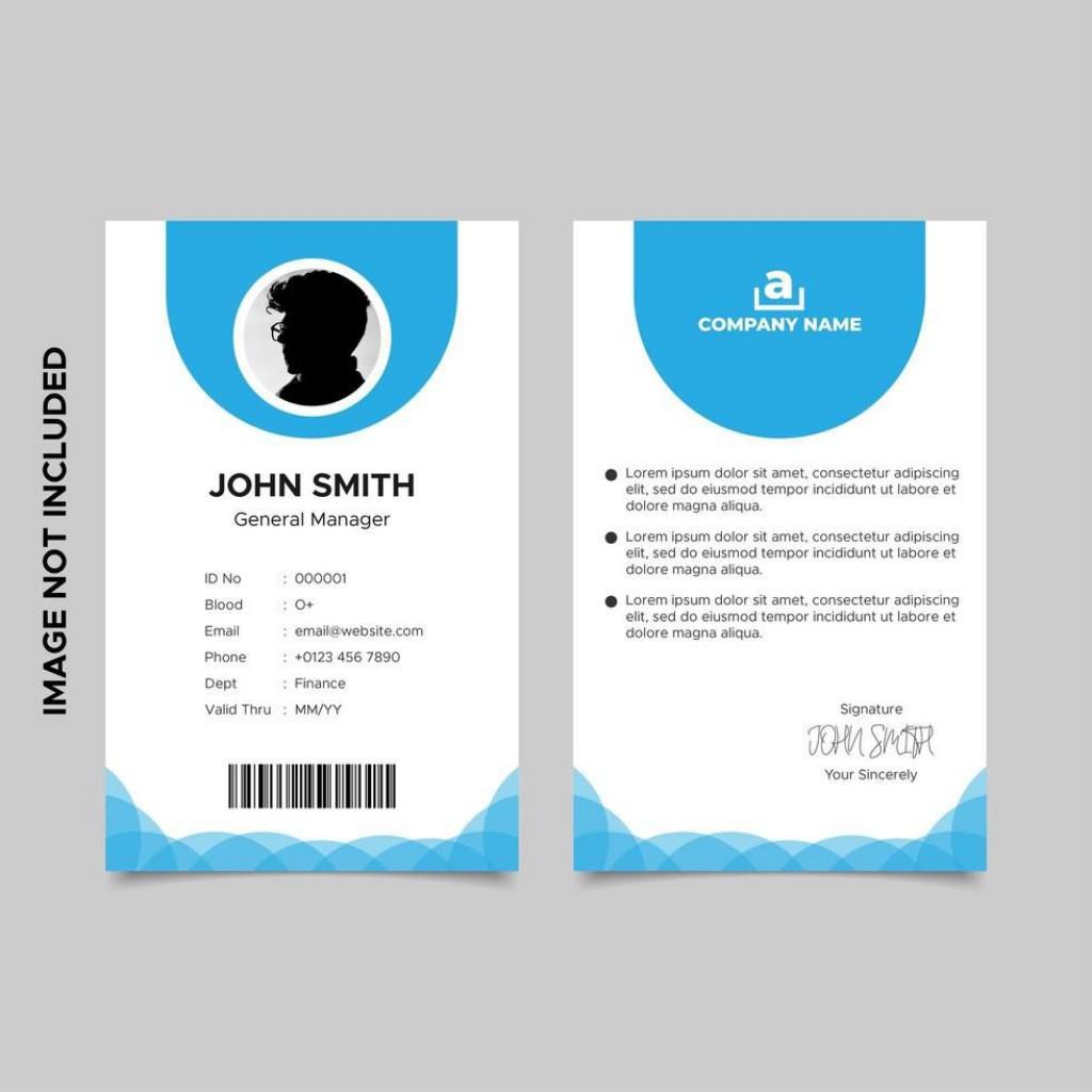 007 Stirring Id Card Template Free Inspiration  Download Pdf DesignLarge