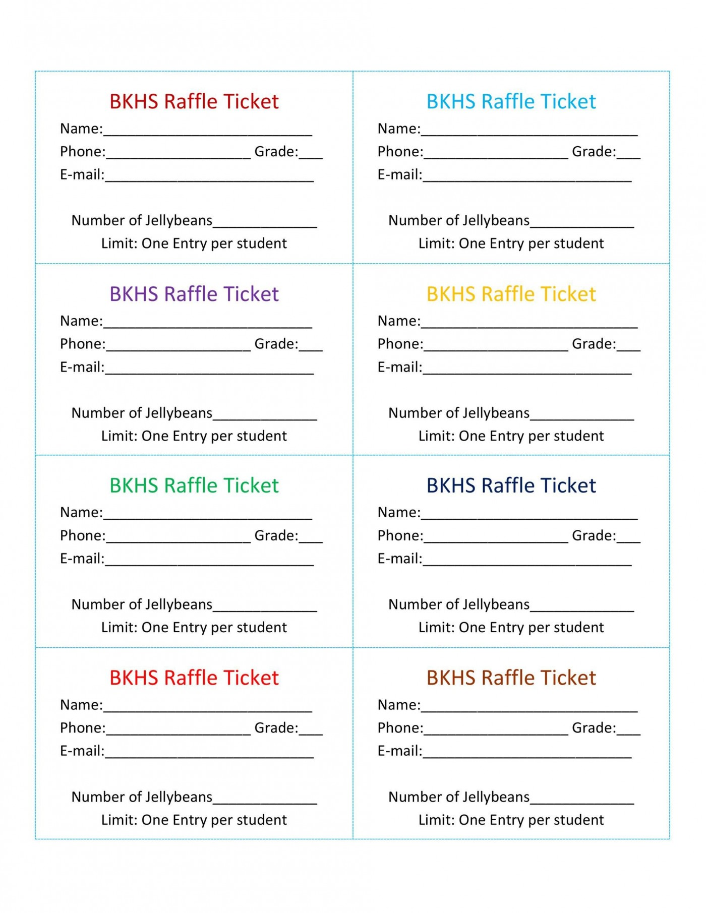 007 Stirring Microsoft Word Raffle Ticket Template Highest Quality  2007 2010 8 Per Page1400