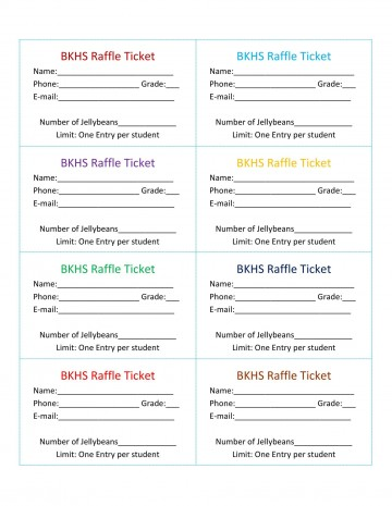 007 Stirring Microsoft Word Raffle Ticket Template Highest Quality  2007 2010 8 Per Page360