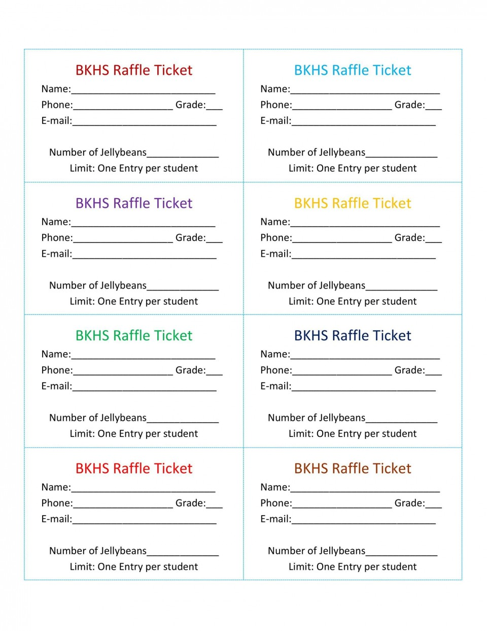 007 Stirring Microsoft Word Raffle Ticket Template Highest Quality  2007 2010 8 Per Page960