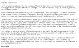 007 Stirring Nursing Cover Letter Template Design  New Grad Word School
