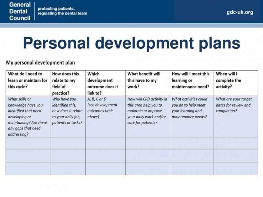 007 Stirring Personal Development Plan Template Gdc Example  Free868