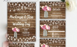 007 Stirring Rustic Wedding Invitation Template Design  Templates Free For Word Maker Photoshop