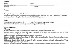 007 Stirring Sample House Rental Agreement Template Image  Contract Lease