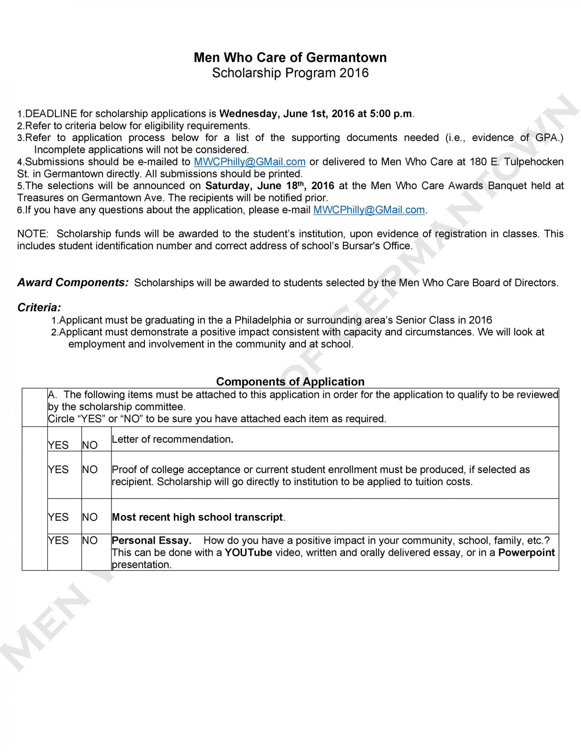 007 Stirring Scholarship Application Template Word Concept  College Letter Sample1920
