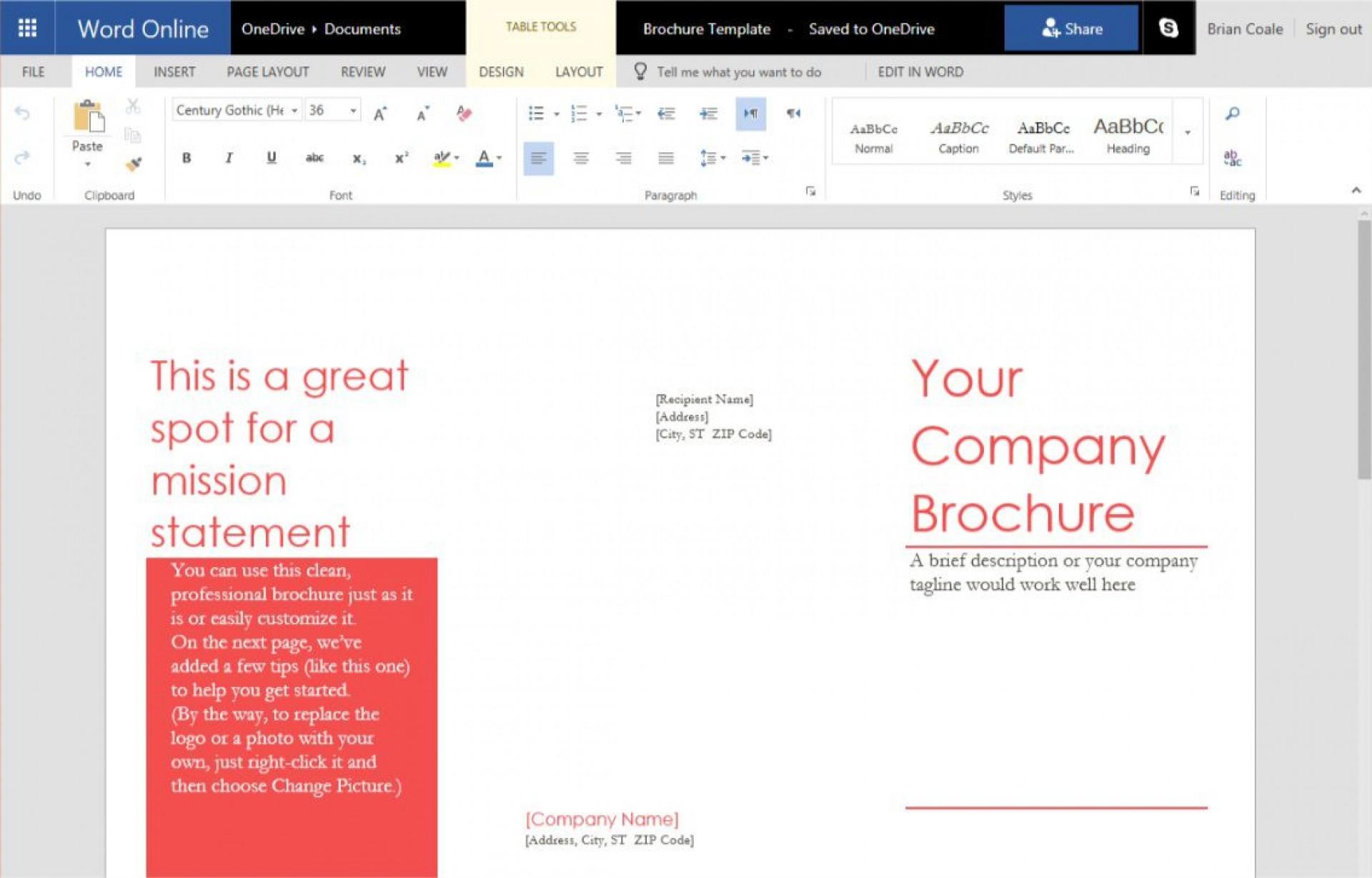 007 Stirring Tri Fold Template Google Doc Idea  Docs Brochure Free Pamphlet Blank Slide1920