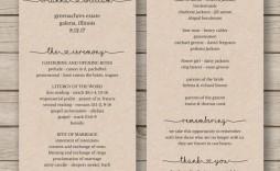 007 Stirring Wedding Order Of Service Template Word Photo  Free Microsoft