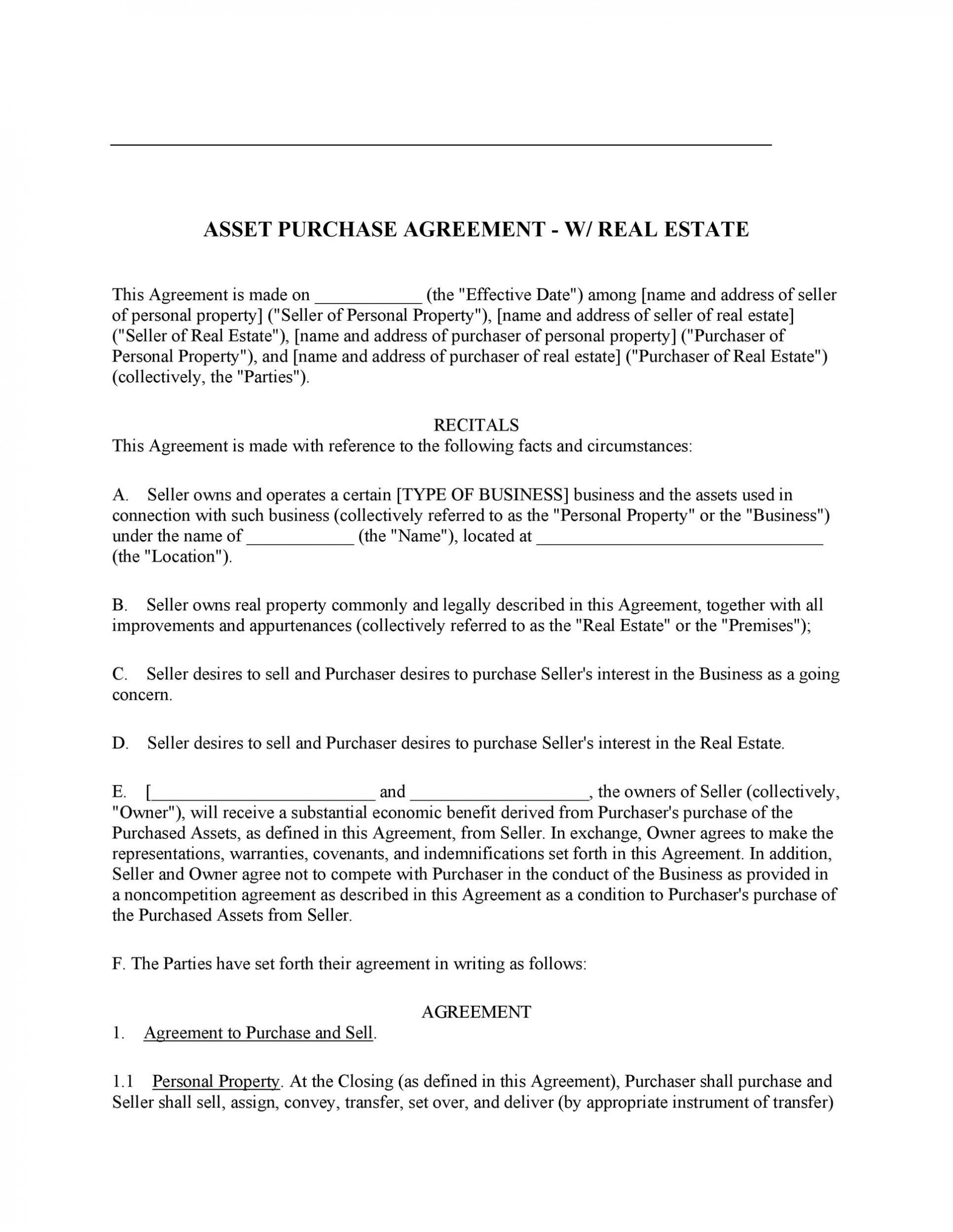 007 Striking Buy Sell Agreement Template For Home Design  Purchase1920