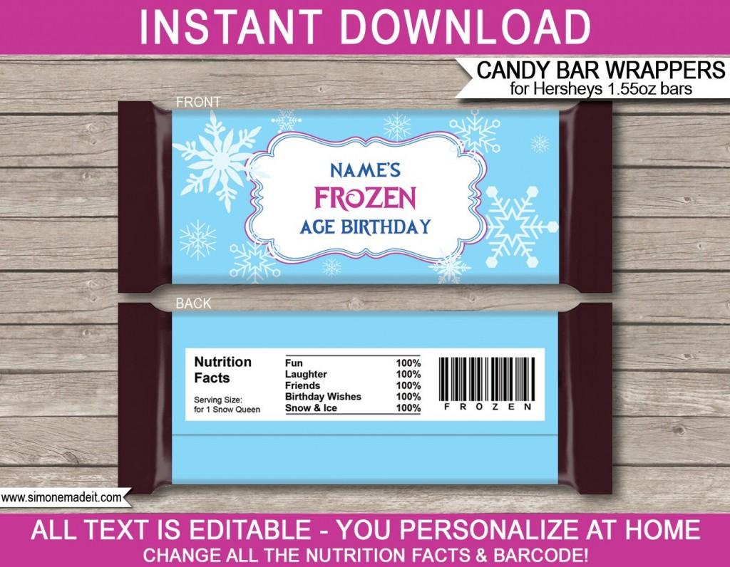 007 Striking Chocolate Bar Wrapper Template Example  Candy Free Printable Mini IllustratorLarge