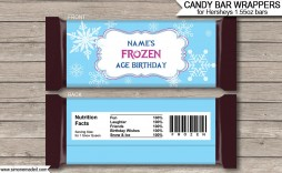 007 Striking Chocolate Bar Wrapper Template Example  Candy Free Printable Mini Illustrator