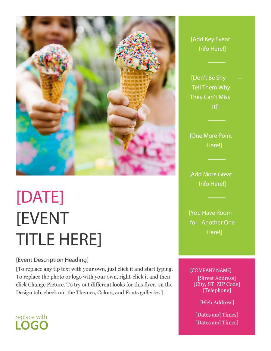 007 Striking Free Event Flyer Template Word Picture  MicrosoftFull