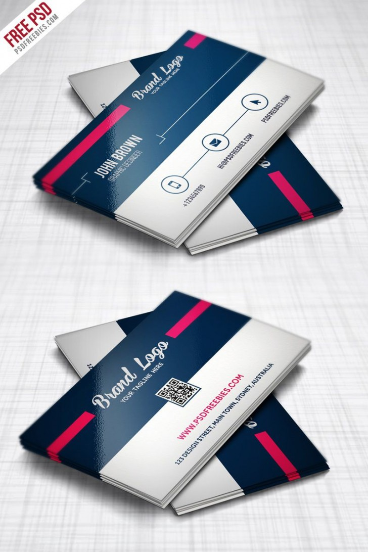 007 Striking Free Photoshop Busines Card Template Download Highest Clarity  Adobe Psd Visiting Design728