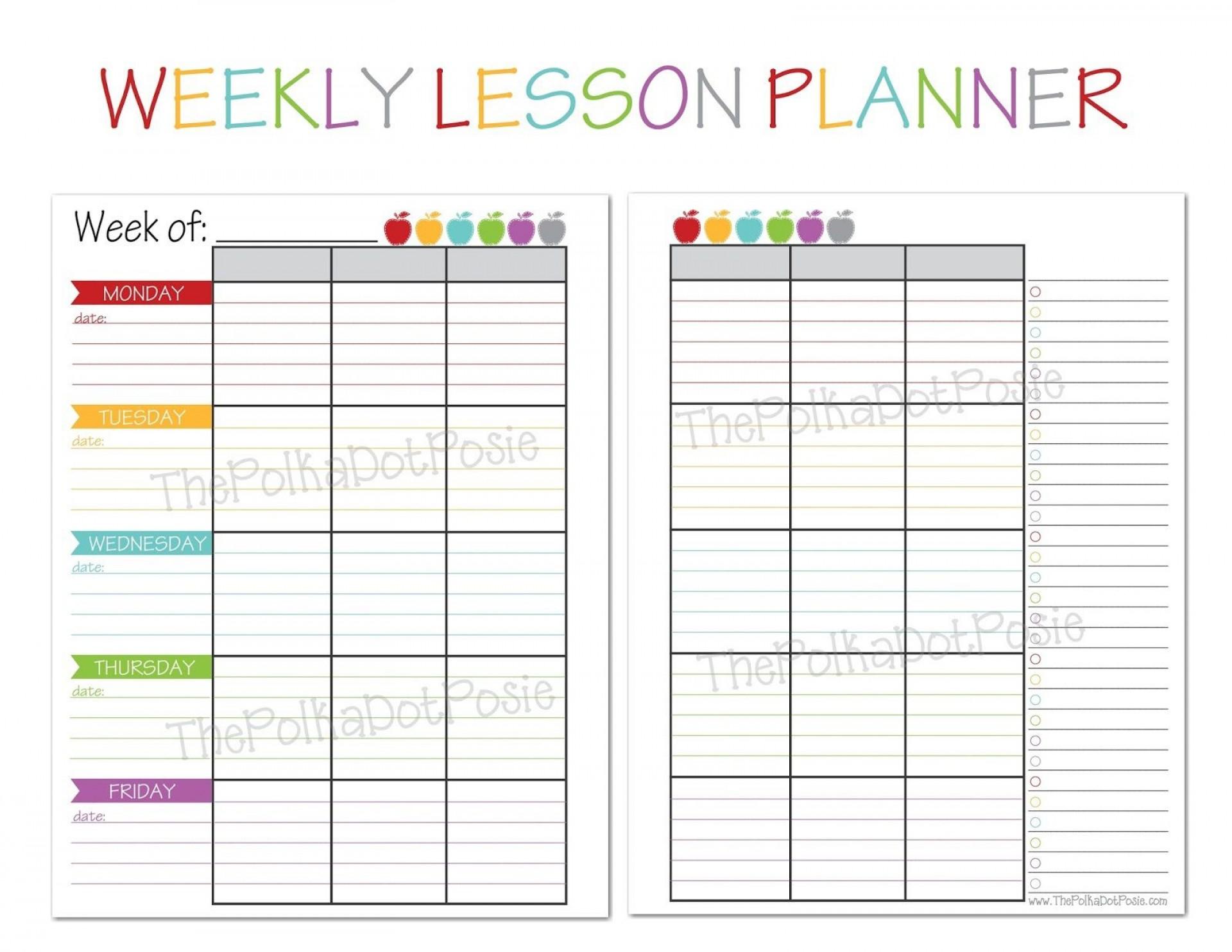 007 Striking Free Printable Lesson Plan Template Weekly Picture  Kindergarten Preschool1920