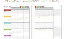 007 Striking Free Printable Lesson Plan Template Weekly Picture  Kindergarten Preschool