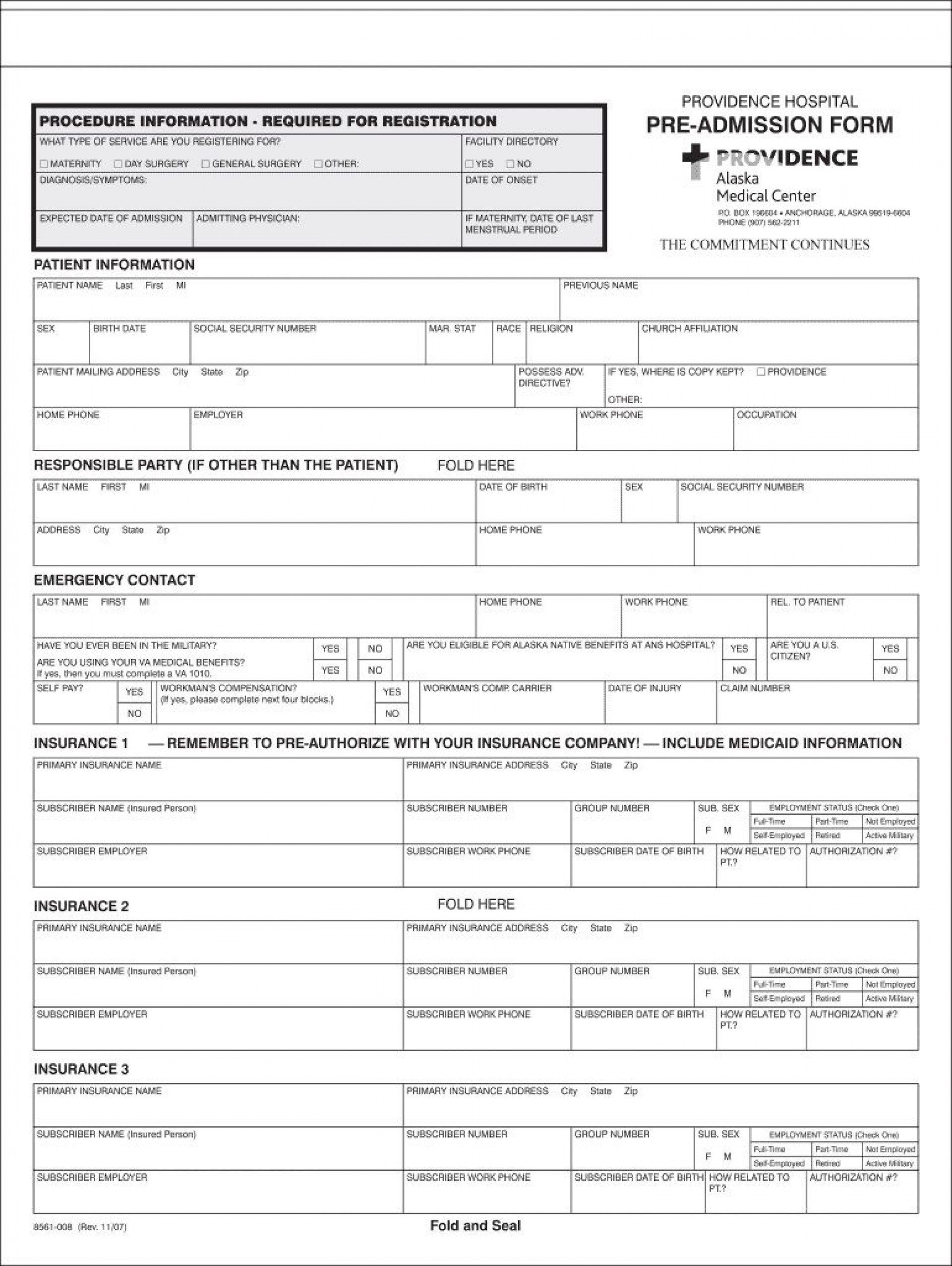 007 Striking Hospital Discharge Form Template Image  PatientFull