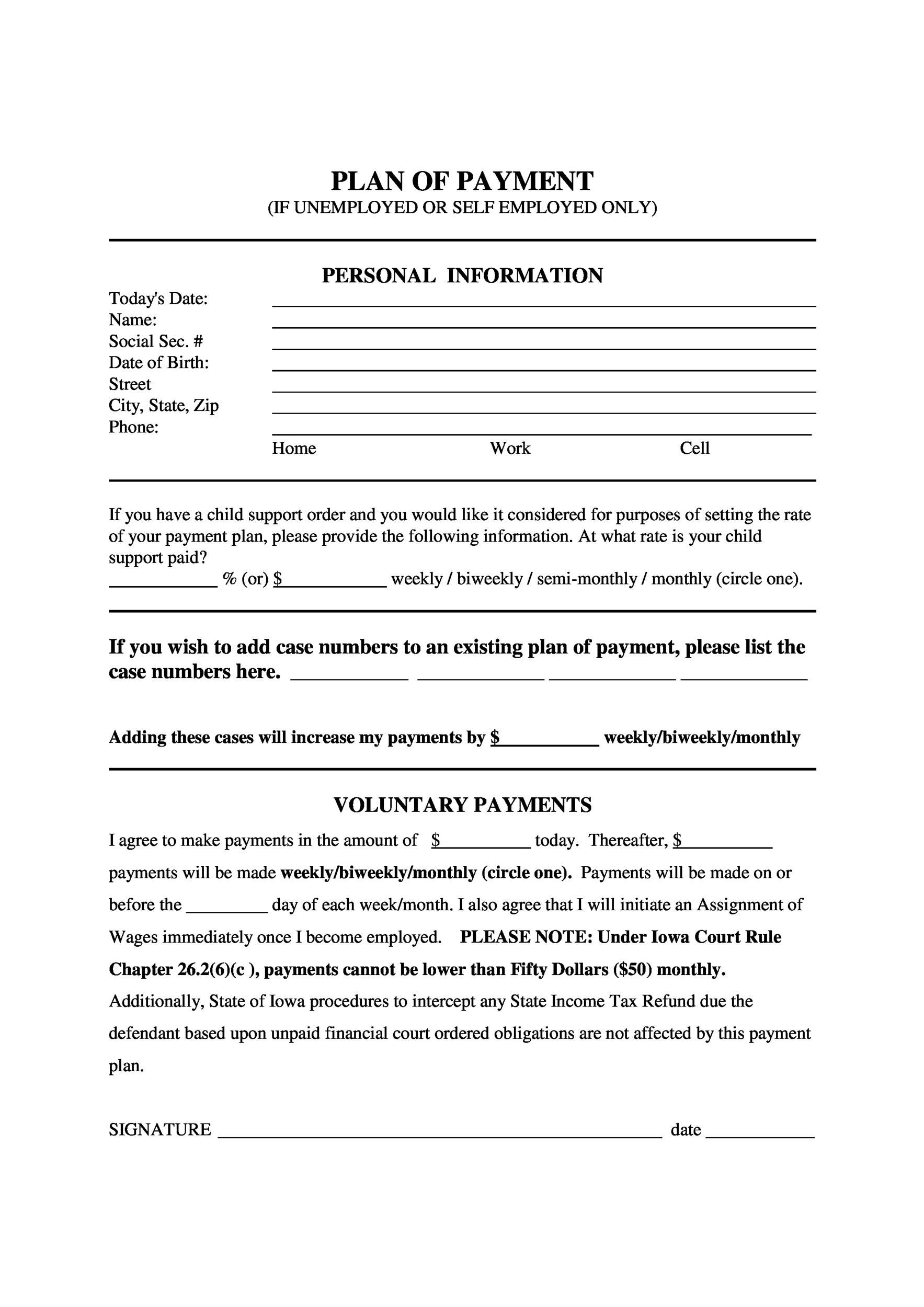 007 Striking Installment Payment Contract Template Image  Agreement Free Car WordFull