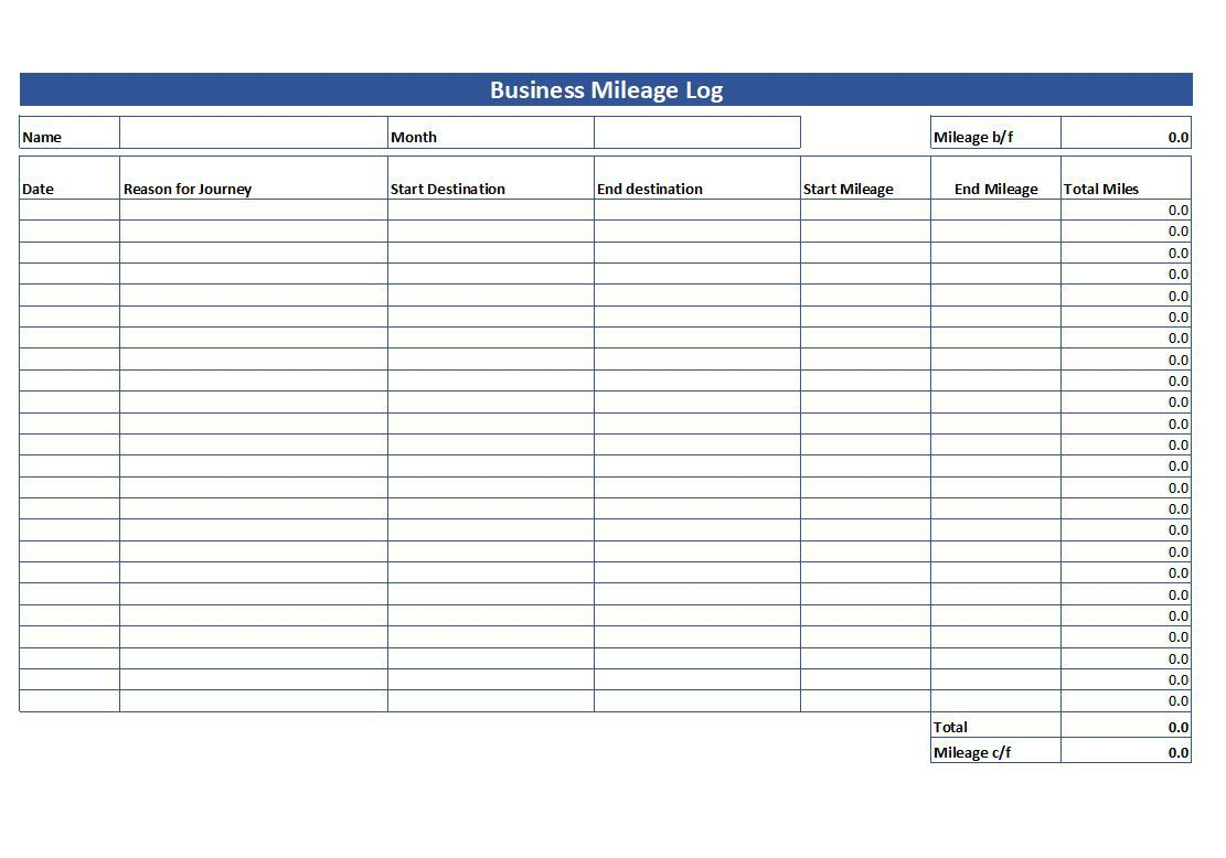 007 Striking Mileage Tracker Form Excel High Definition Full
