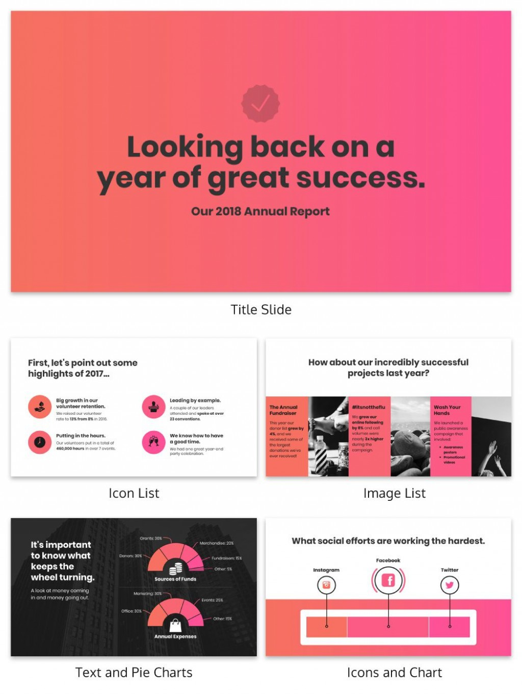 007 Striking Non Profit Annual Report Template Concept  Not For Small NonprofitLarge