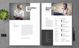 007 Striking Photoshop Cv Template Free Download Picture  Resume Adobe