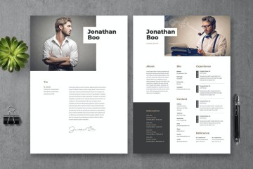 007 Striking Photoshop Cv Template Free Download Picture  Adobe Resume360