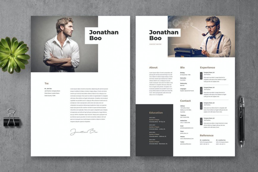 007 Striking Photoshop Cv Template Free Download Picture  Adobe Resume868