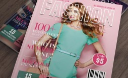 007 Striking Photoshop Fashion Magazine Cover Template Free Picture