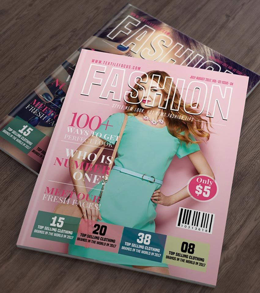 007 Striking Photoshop Fashion Magazine Cover Template Free Picture Full