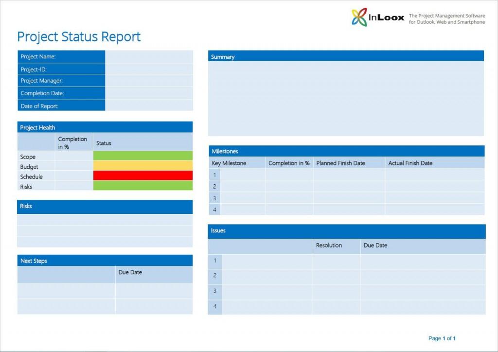 007 Striking Project Management Statu Report Template High Definition  Format Ppt WordLarge