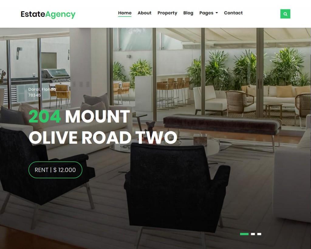 007 Striking Real Estate Website Template Sample  Templates Bootstrap Free Html5 Best WordpresLarge