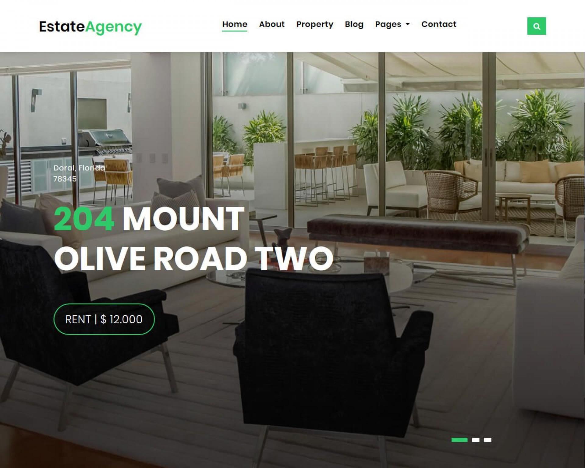 007 Striking Real Estate Website Template Sample  Templates Bootstrap Free Html5 Best Wordpres1920