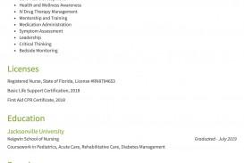 007 Striking Rn Graduate Resume Template High Resolution  New Grad Nurse