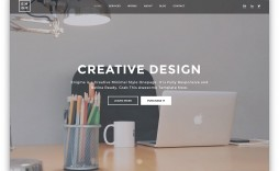 007 Striking Simple Html Web Template Free Download Picture  Website With Cs Bootstrap Without