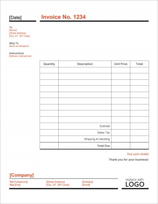 007 Striking Simple Invoice Template Excel Download Free Concept 320