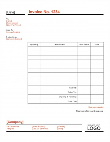 007 Striking Simple Invoice Template Excel Download Free Concept 360