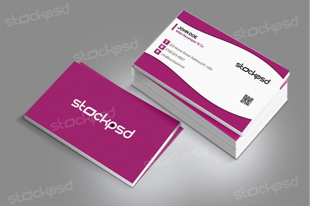 007 Striking Staple Busines Card Template Psd High Def Large