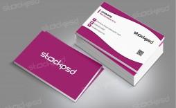007 Striking Staple Busines Card Template Psd High Def