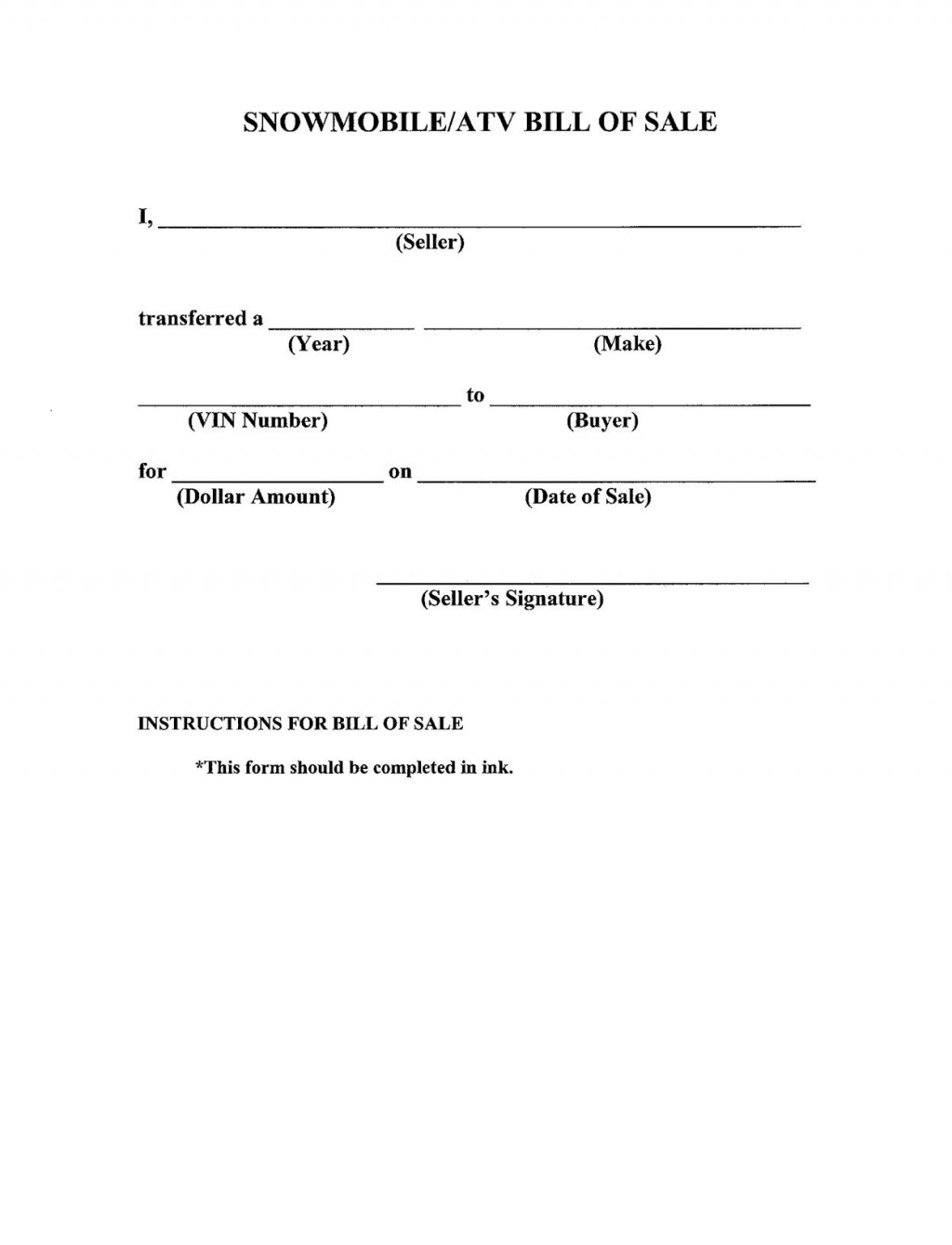 007 Striking Template For Bill Of Sale High Resolution  Example Trailer Free Mobile Home Used CarLarge
