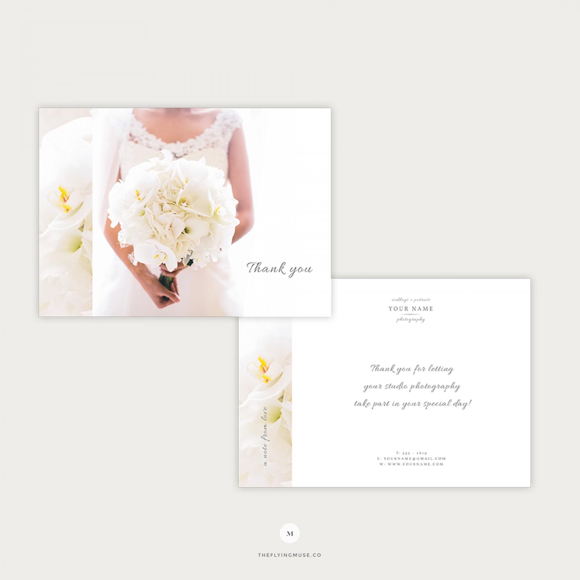 007 Striking Thank You Card Template Wedding Example  Free Printable Publisher1920