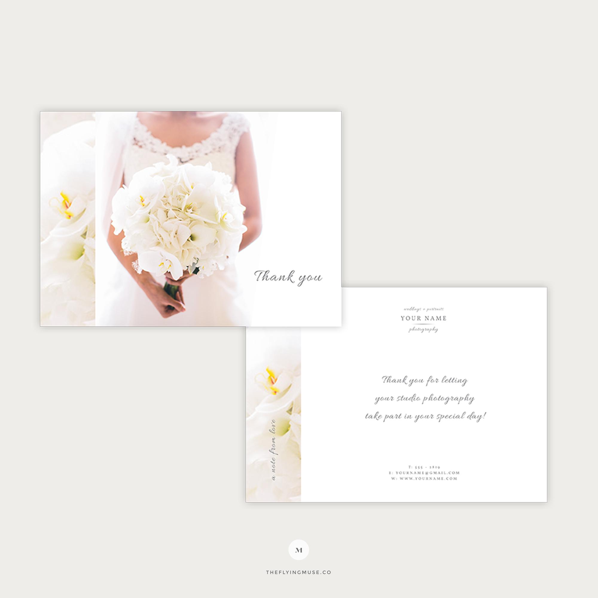 007 Striking Thank You Card Template Wedding Example  Free Printable PublisherFull