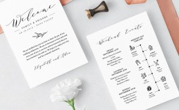 007 Striking Wedding Welcome Letter Template Free Picture  Bag