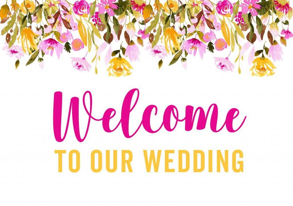 007 Striking Wedding Welcome Sign Printable Template Design  FreeLarge