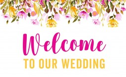 007 Striking Wedding Welcome Sign Printable Template Design  Free