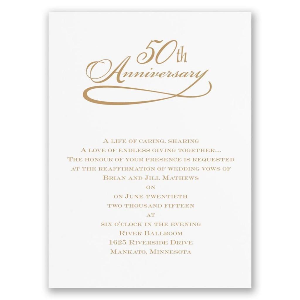 007 Stunning 50th Anniversary Invitation Wording Sample Highest Clarity  Samples Wedding CardLarge
