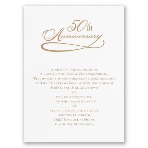 007 Stunning 50th Anniversary Invitation Wording Sample Highest Clarity  Wedding 60th In Tamil Birthday480