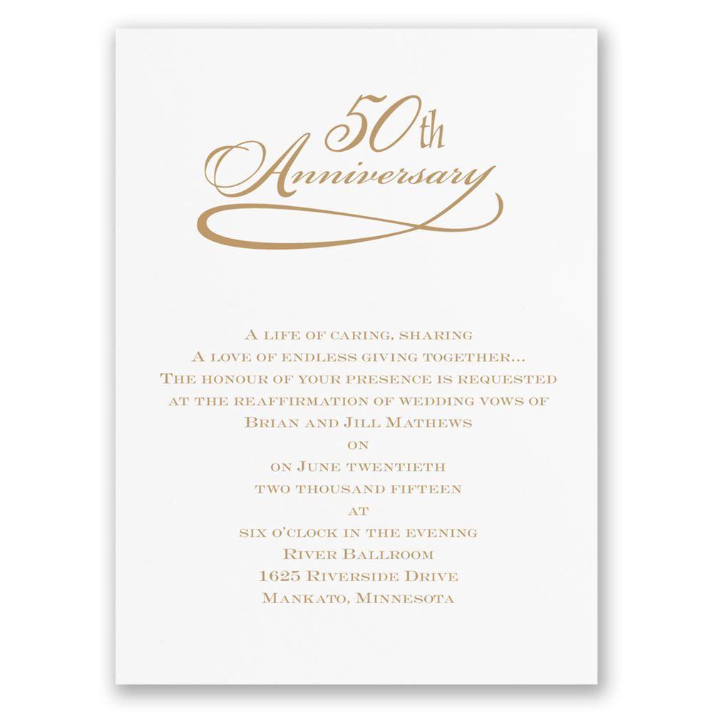 007 Stunning 50th Anniversary Invitation Wording Sample Highest Clarity  Samples Wedding CardFull