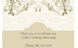 007 Stunning 50th Wedding Anniversary Party Invitation Template Sample  Templates Free