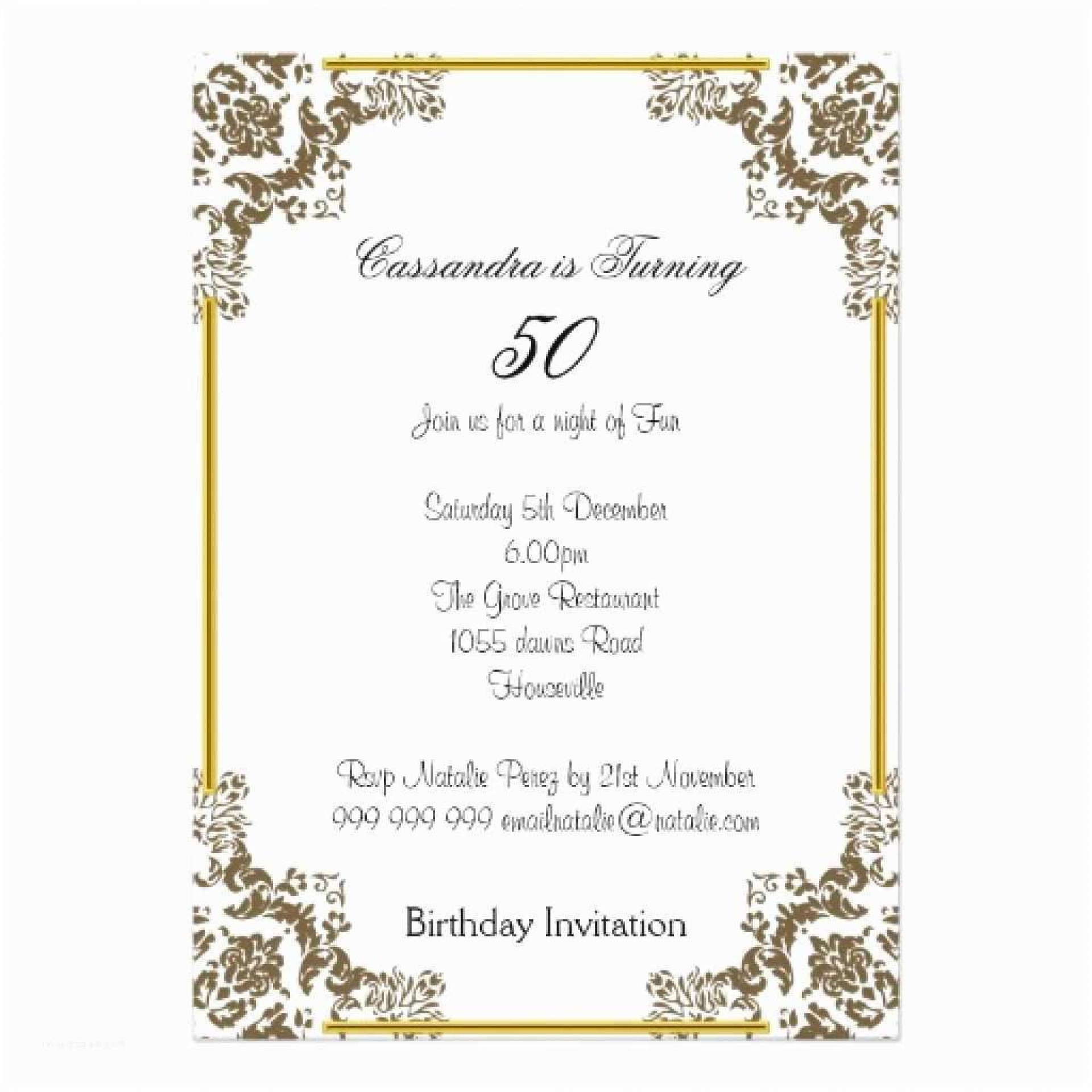 007 Stunning 60th Birthday Invitation Template High Resolution  Card Free Download1920